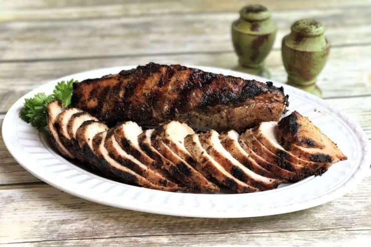 Garlic-Crusted Balsamic Pork Loin