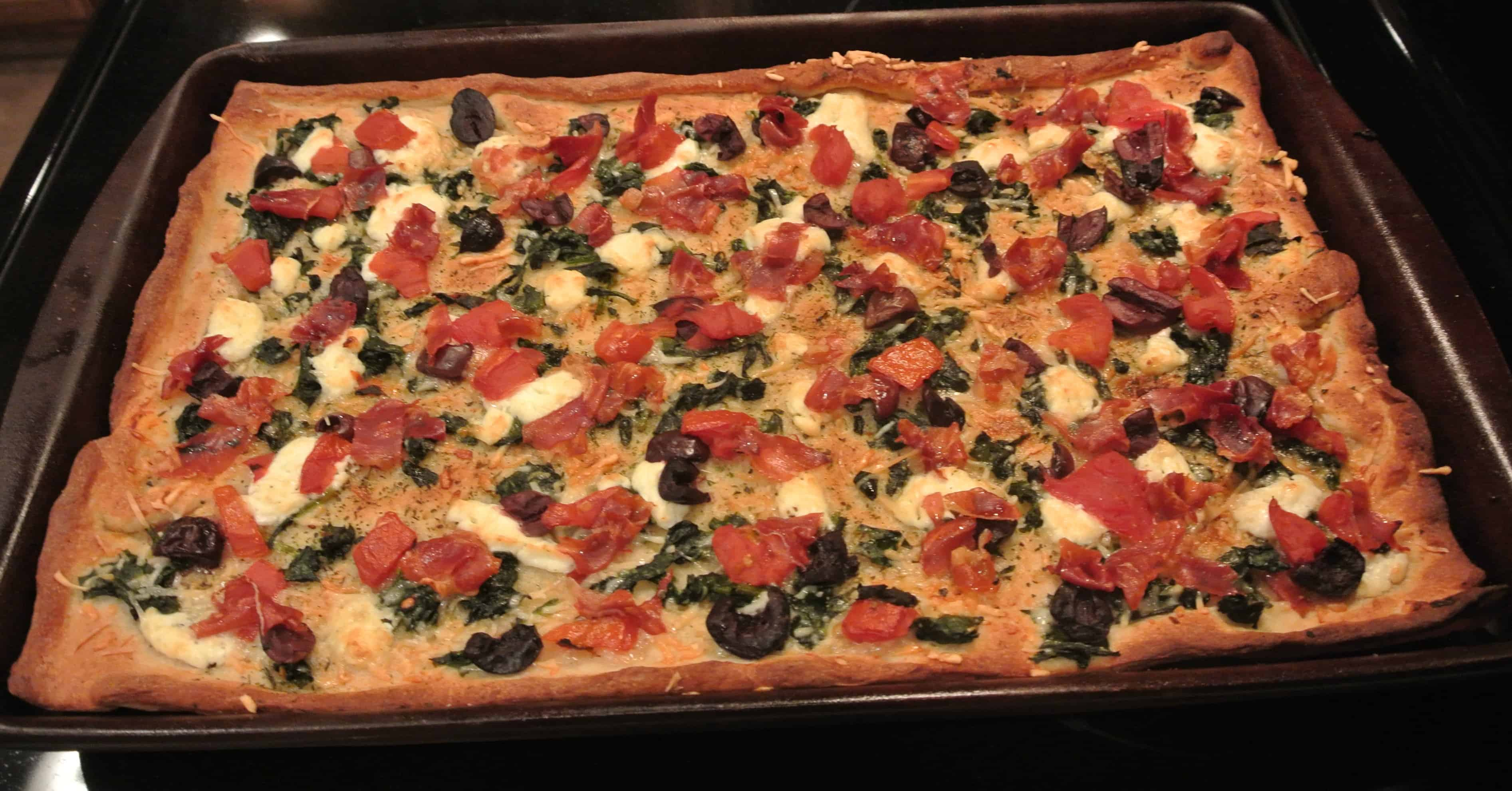 Sautéed Spinach Pizza