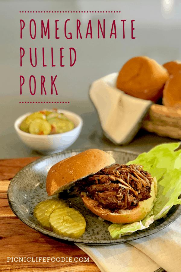 Pomegranate Pulled Pork Pin