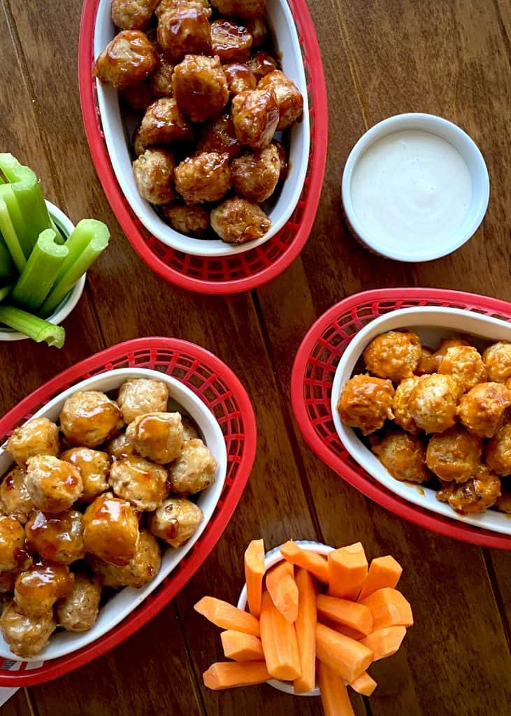 Wing-Style Chicken Meatballs