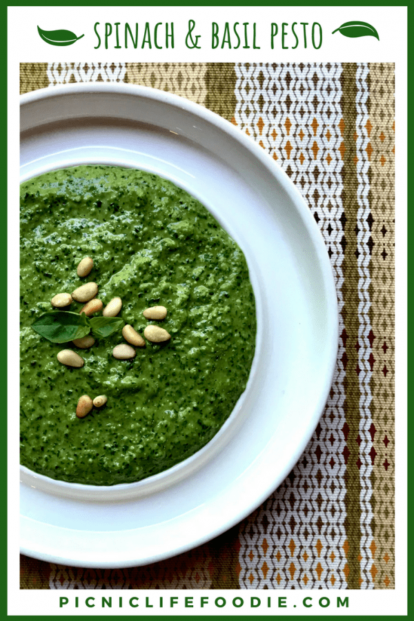 Spinach and Basil Pesto