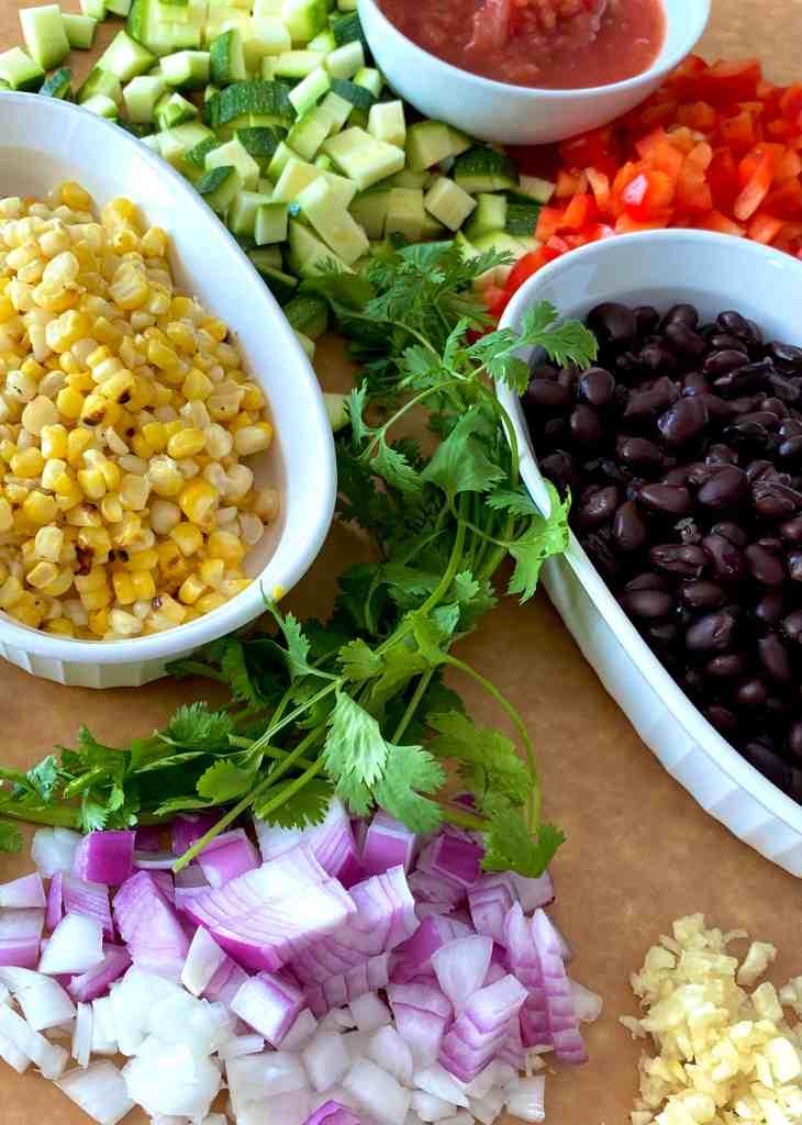 Ingredients for Summer Succotash