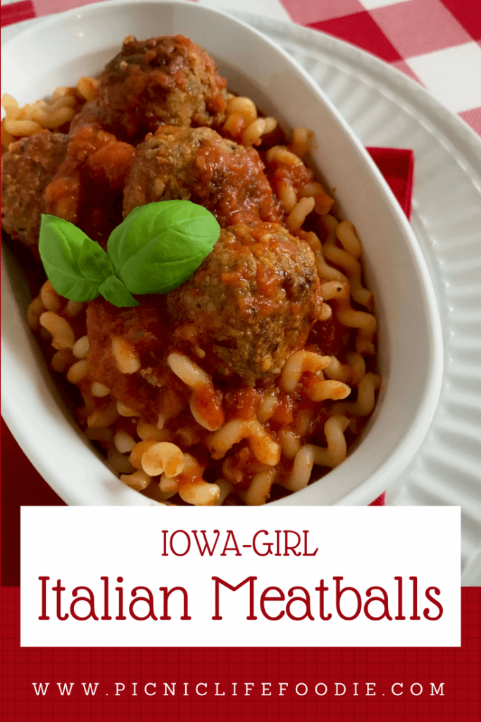 Italian Meatballs on Fusilli Pasta
