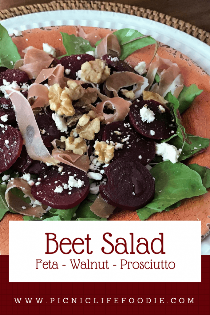Beet and Feta Salad with Walnuts and Prosciutto