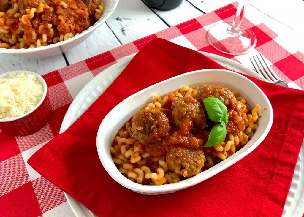 Italian Meatballs and Pasta
