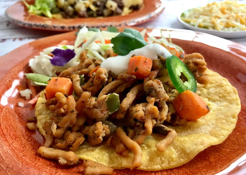 Chicken and Sweet Potato Tostada