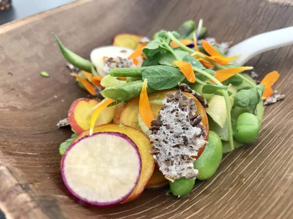 Vegetable Salad with Green Goddess Dressing