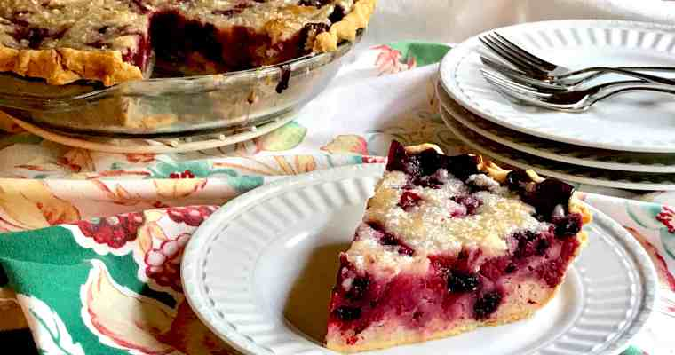 Sour Cream Raspberry Pie
