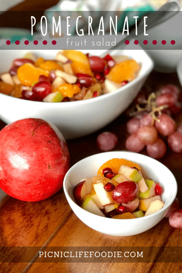 Pomegranate Fruit Salad Pin