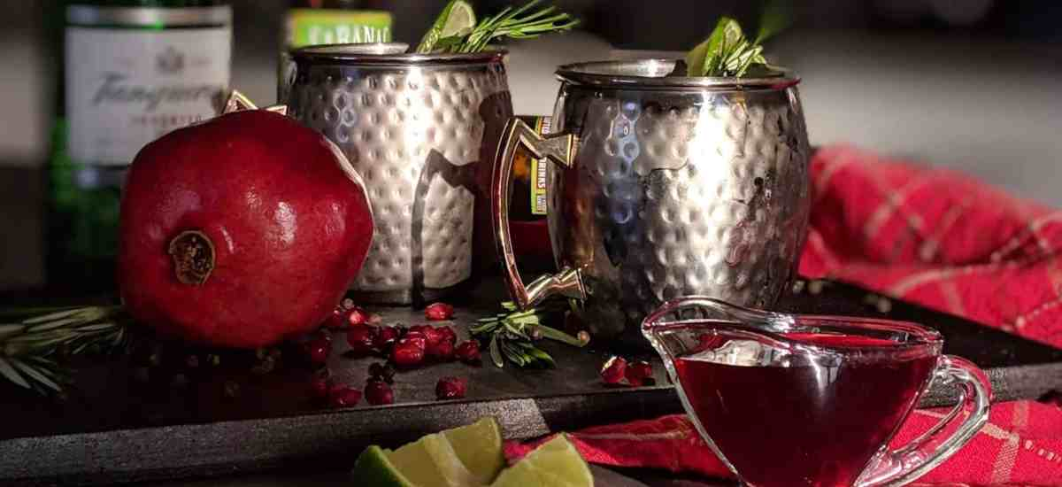Pomegranate and Rosemary Moscow Mule