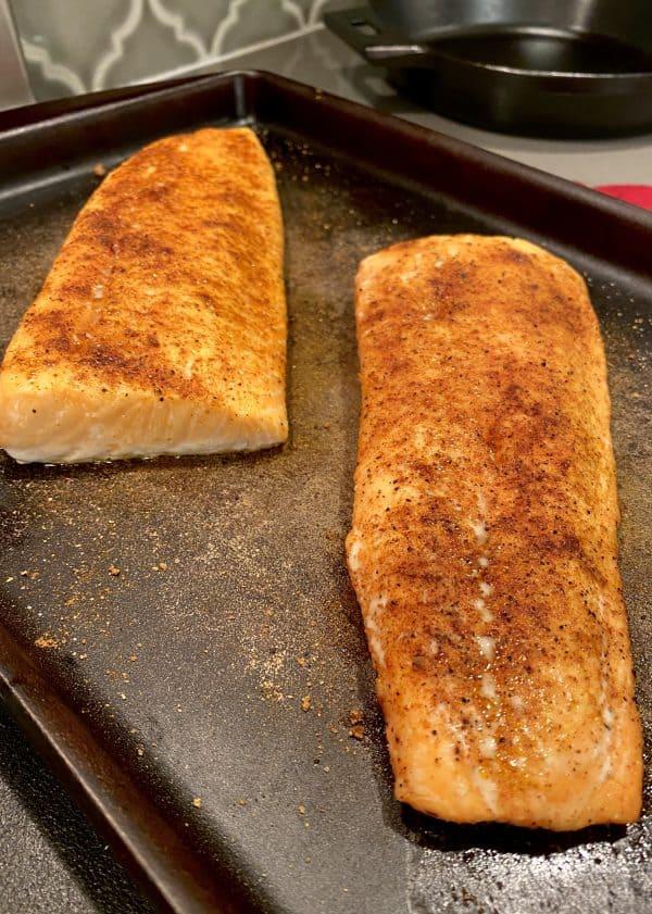 Baked Smoky Maple Salmon