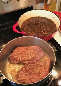 Browning Beef for French Dip