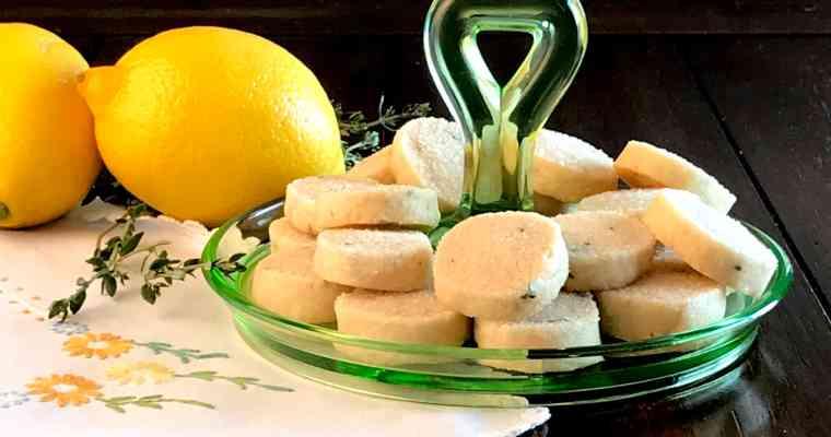 Lemon Thyme Shortbread Cookies
