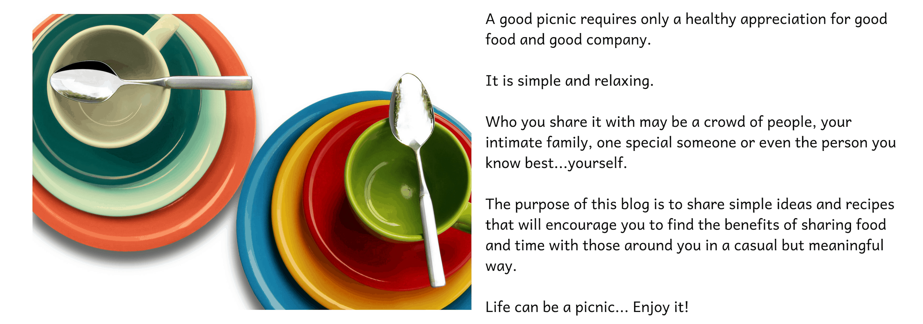 Picnic Life Foodie Welcome