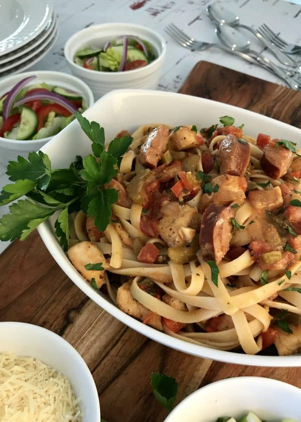 Cajun Chicken & Andouille Pasta
