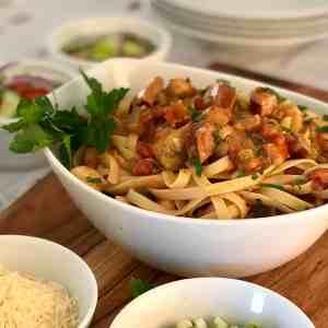 Cajun Chicken & Andouille Pasta Feature