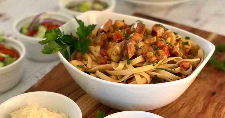 Cajun Chicken & Andouille Sausage Pasta