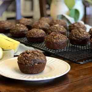 Cocoa Banana Muffins Feature