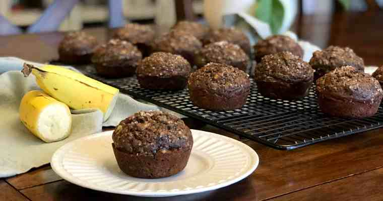 Cocoa Banana Muffins