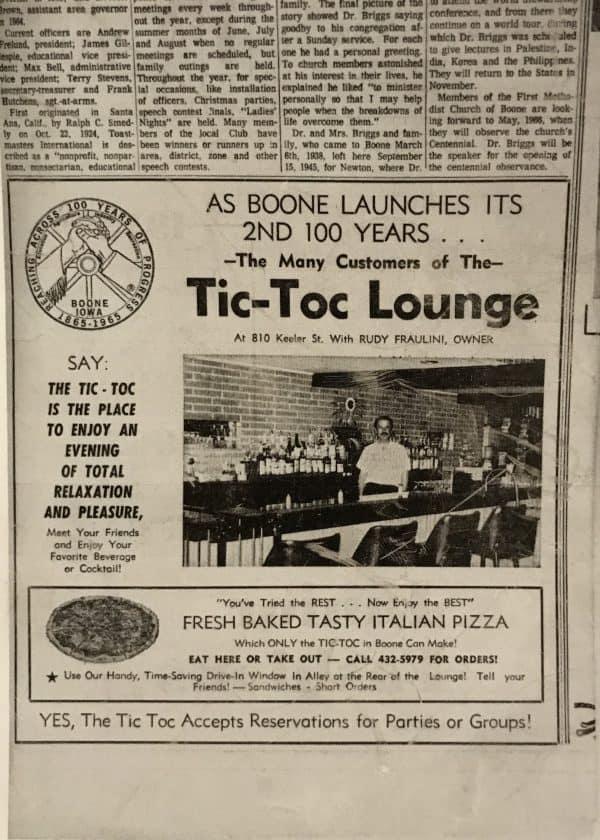 Tic Toc Newspaper Ad