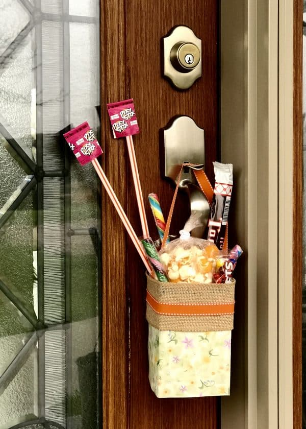 May Day Basket on Door