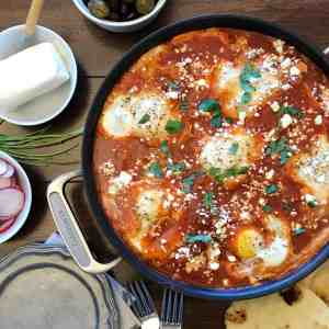 Shakshuka Eggs and Tomatoes