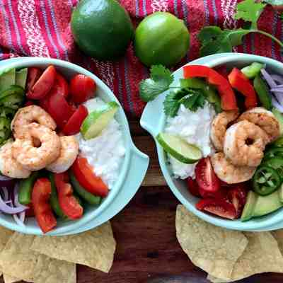 Chunky Guac and Shrimp Salad Feature