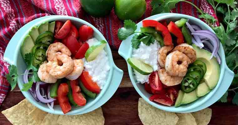 Chunky Guacamole & Shrimp Salad