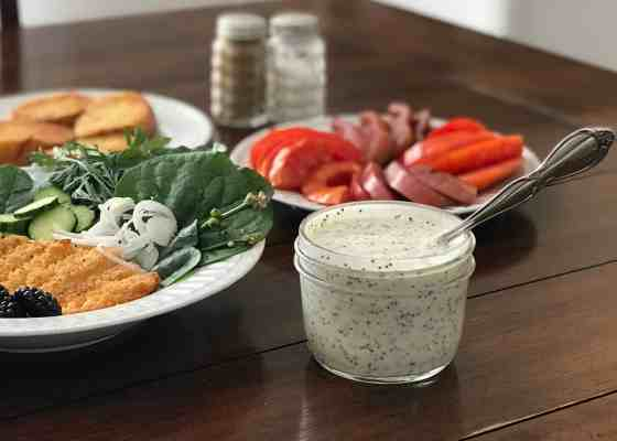 Potluck Picnic with Lemon Poppy Seed Dressing