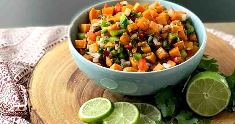 Potluck Picnic with Spicy and Sweet Potato Salad