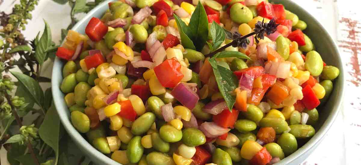 Potluck Picnic with Summer Edamame Salad