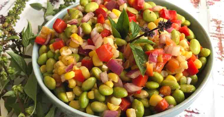 Potluck Picnic with Summer Edamame Salad