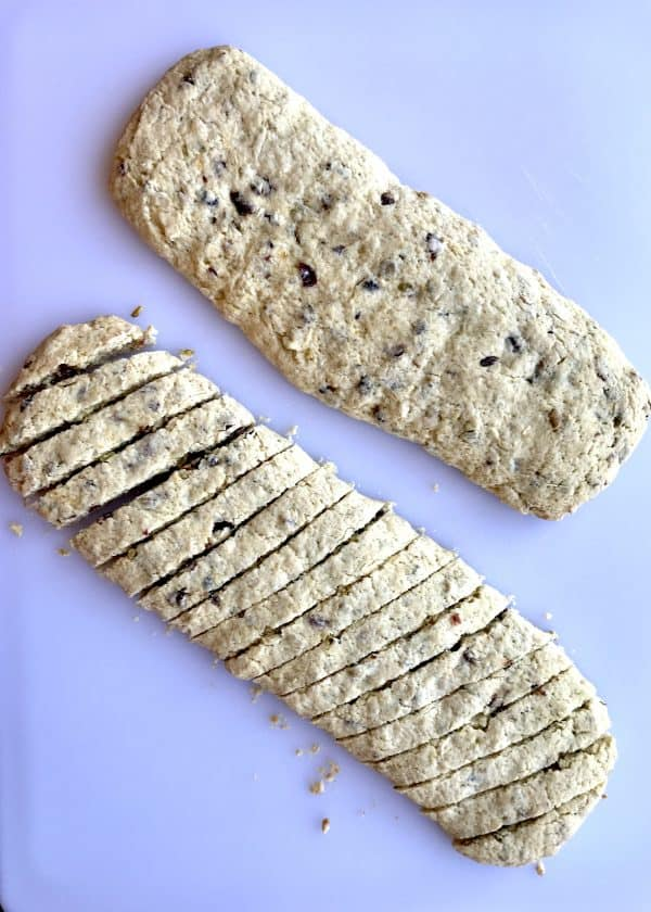 Slicing Biscotti Dough