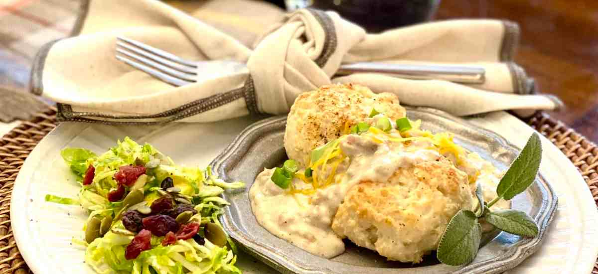 Shortcut Biscuits and Gravy