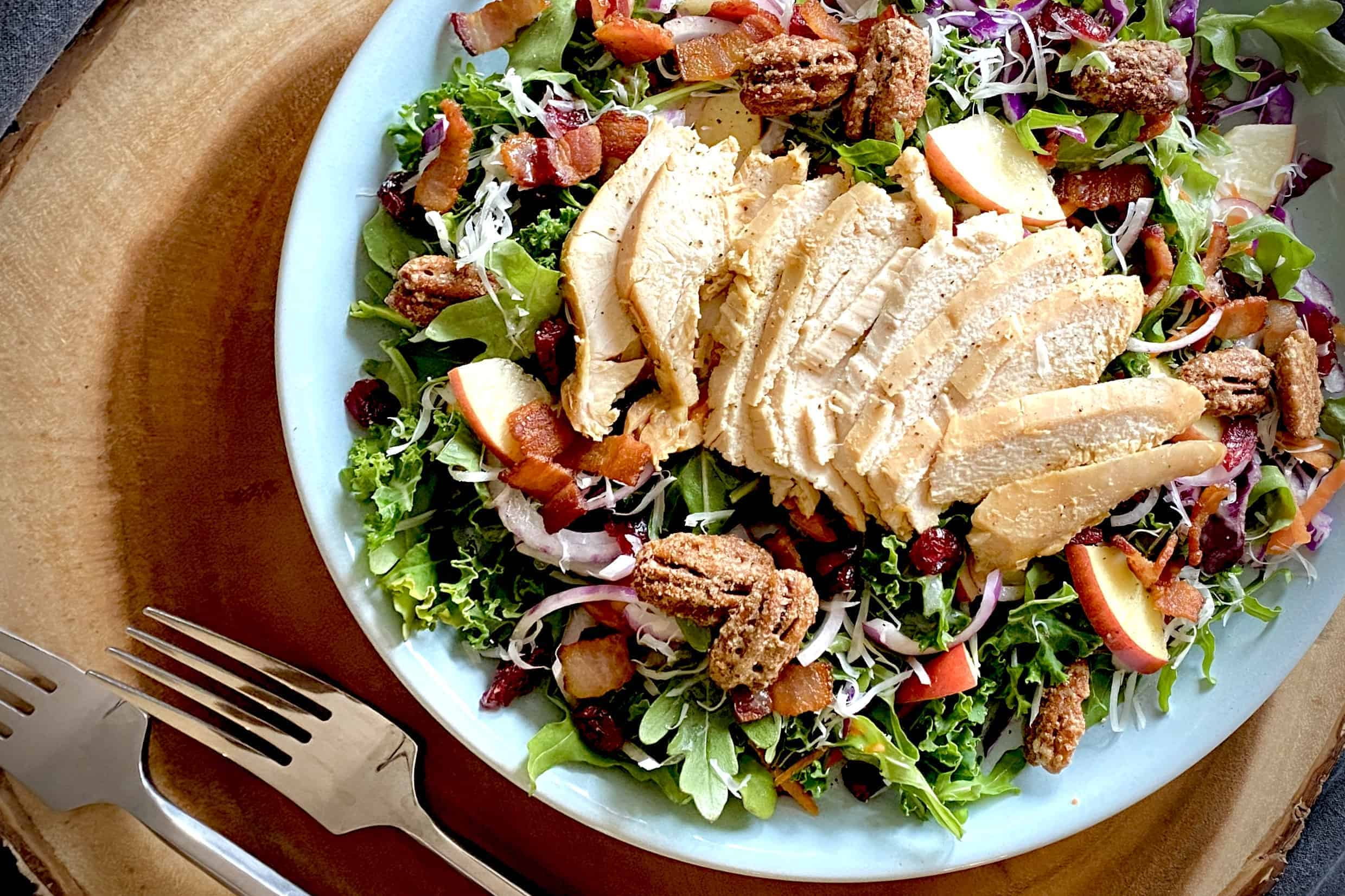 Kale Apple and Chicken Salad