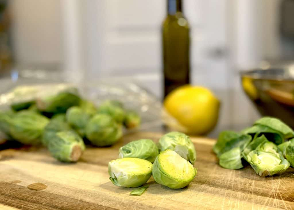 Roasted Brussels Sprouts Prep