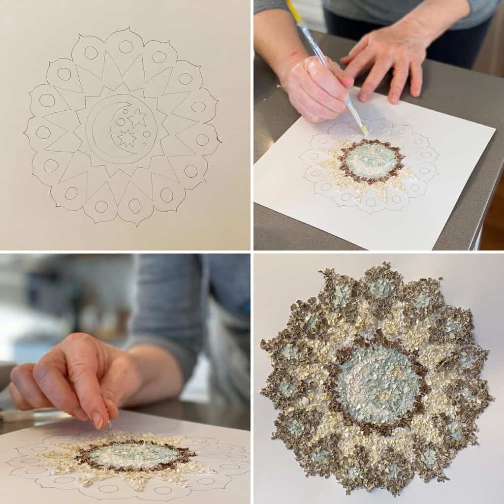 Eggshell Mosaic Art