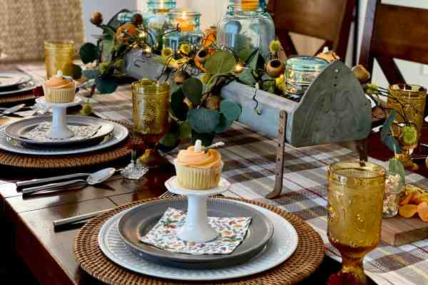 Vintage Chicken Feeder Fall Tablescape