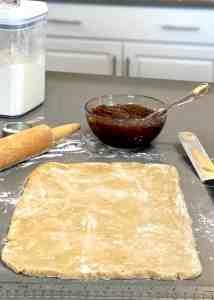 Date Pinwheel Cookie Dough Shaping