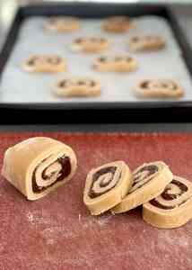 Forming Date Pinwheel Cookies