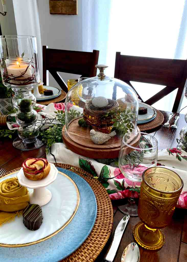 New Accent Pieces in Tablescape